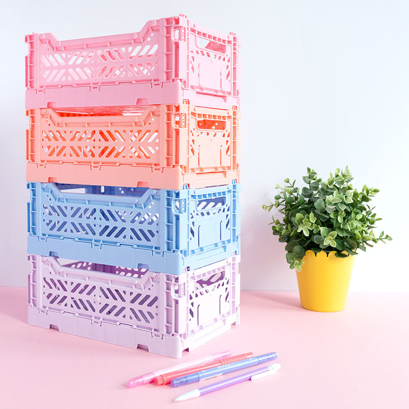 Folding Storage Crates by Aykasa - MINI - The Happy Colour Shop
