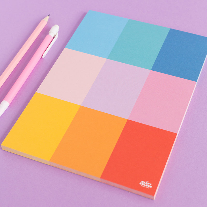 Colour Block Notepad - The Happy Colour Shop
