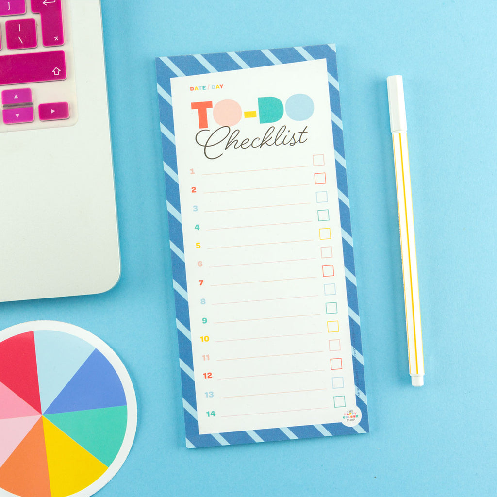 To-Do Checklist Notepad - The Happy Colour Shop