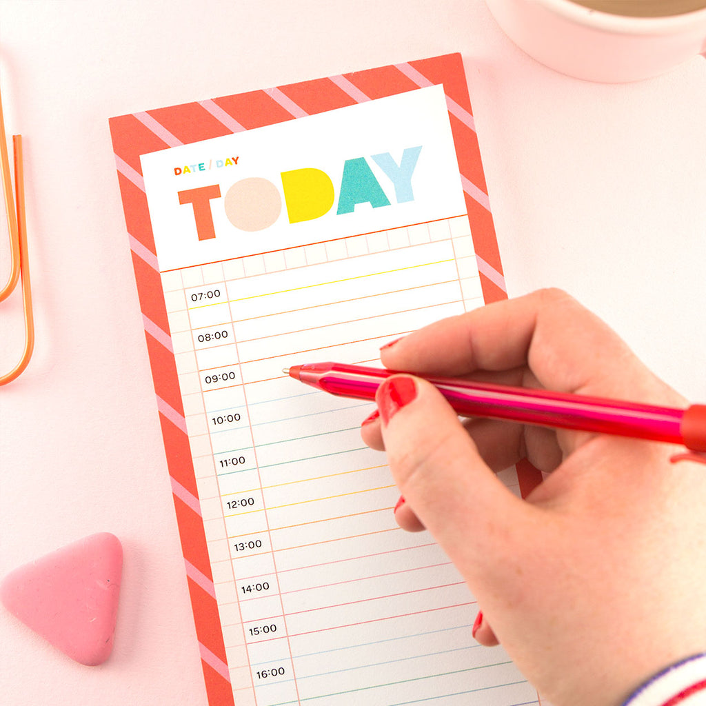 Today Appointments Notepad - The Happy Colour Shop