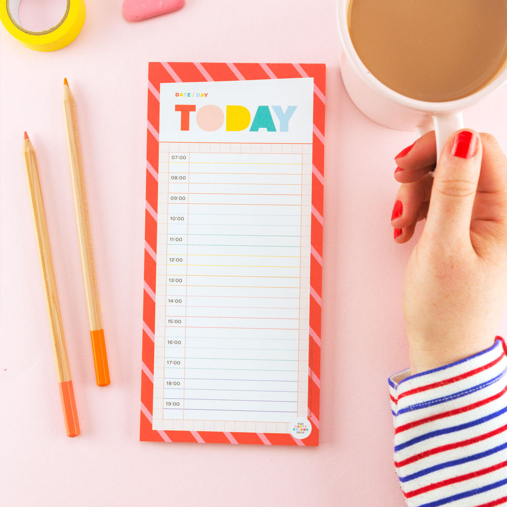 Today Time Tracker Notepad - The Happy Colour Shop