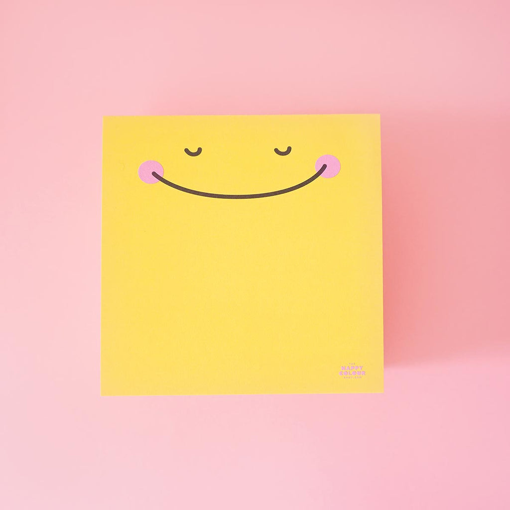 happy memo pad smiley face the happy colour shop front view
