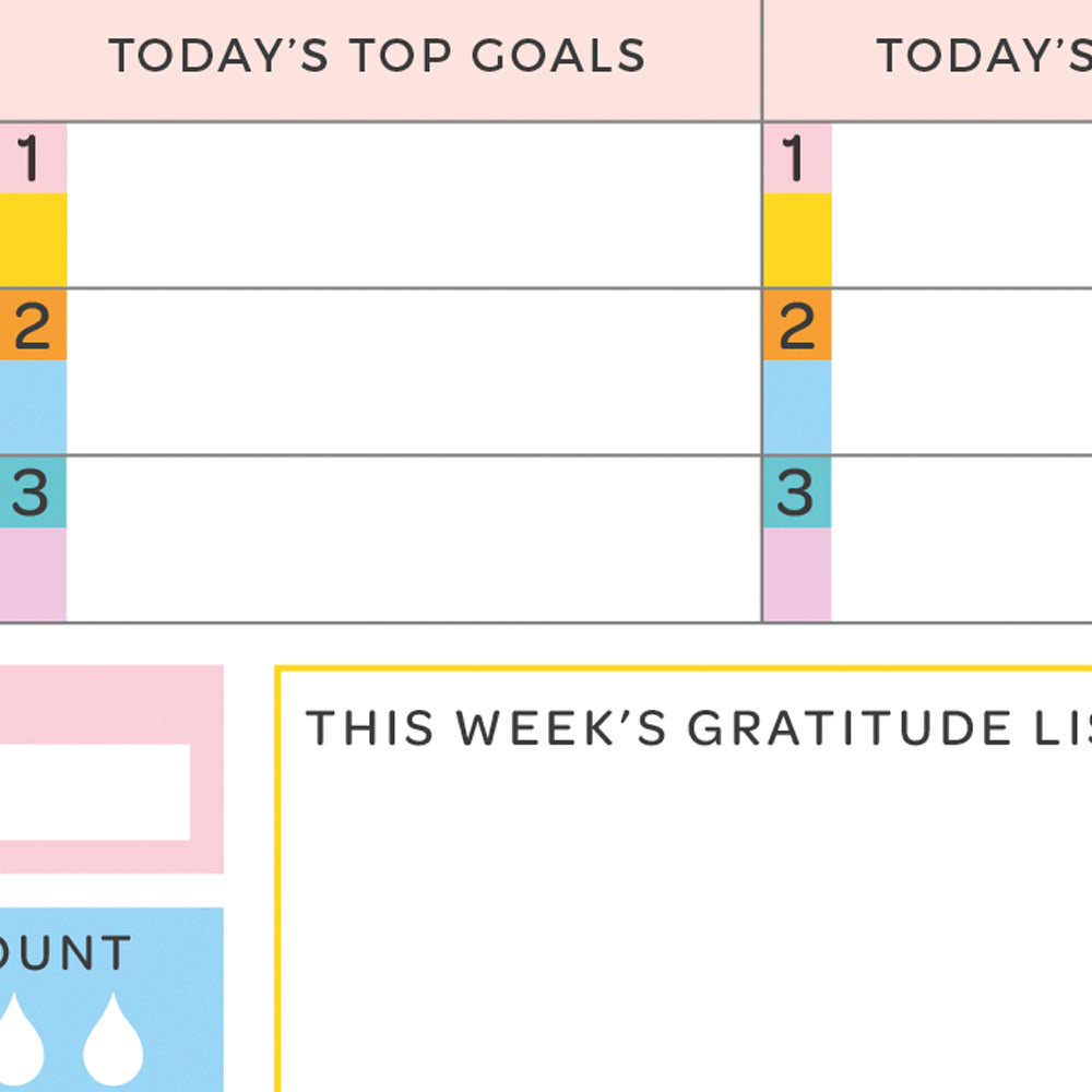 Weekly Planner - 52 sheets - The Happy Colour Shop