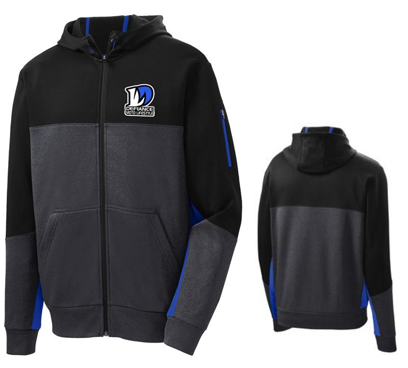 Defiance Mens Corporate Future Full zip Hooded - blue - Defiance Lifestyle, Race Apparel - Casual to Custom