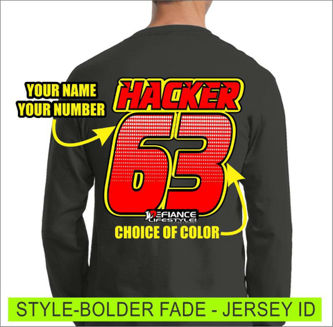Bolder Fade - Jersey Lettering - Defiance Lifestyle, Race Apparel - Casual to Custom