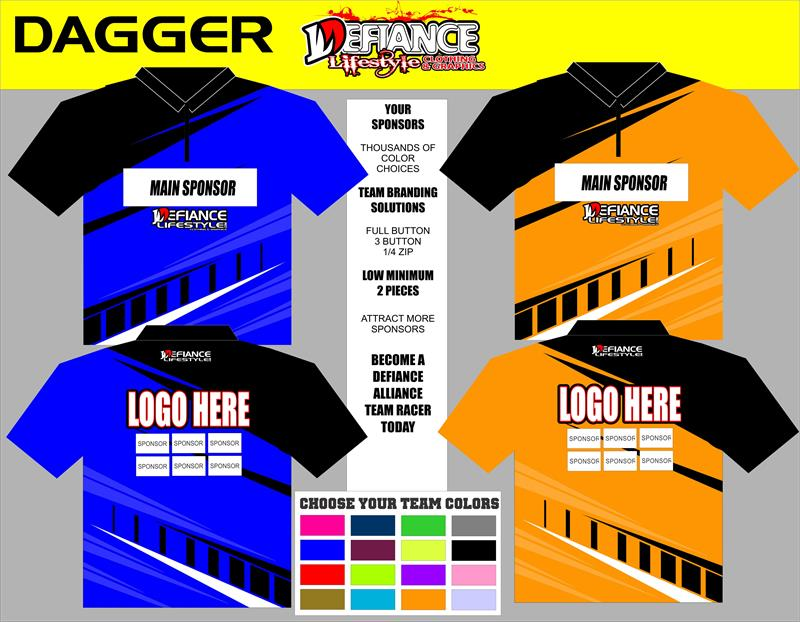 Dagger Polo Semi Custom - Defiance Lifestyle, Race Apparel - Casual to Custom