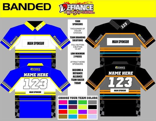 branded Polo Semi Custom - Defiance Lifestyle, Race Apparel - Casual to Custom