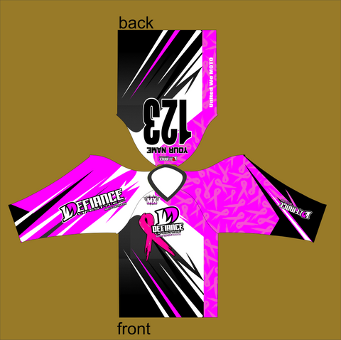 Support the Cure Race Jersey - Breast Cancer - Defiance Lifestyle, Race Apparel - Casual to Custom