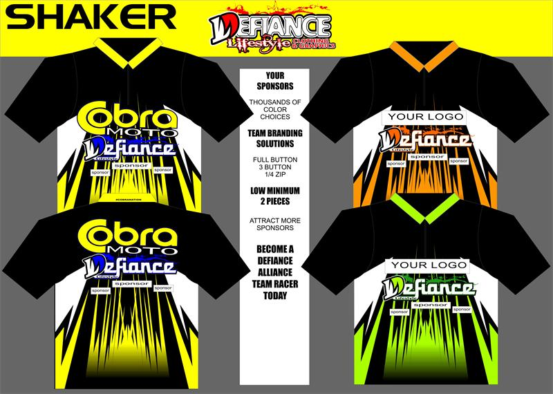 Shaker Polo Semi Custom - Defiance Lifestyle, Race Apparel - Casual to Custom