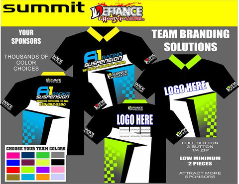 Avenger Polo Semi Custom - Defiance Lifestyle, Race Apparel - Casual to Custom