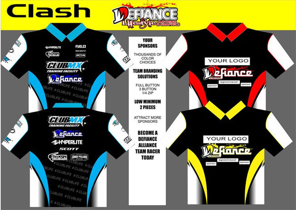 Clash Polo Semi Custom - Defiance Lifestyle, Race Apparel - Casual to Custom