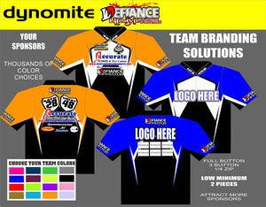 Dynomite Polo Semi Custom - Defiance Lifestyle, Race Apparel - Casual to Custom