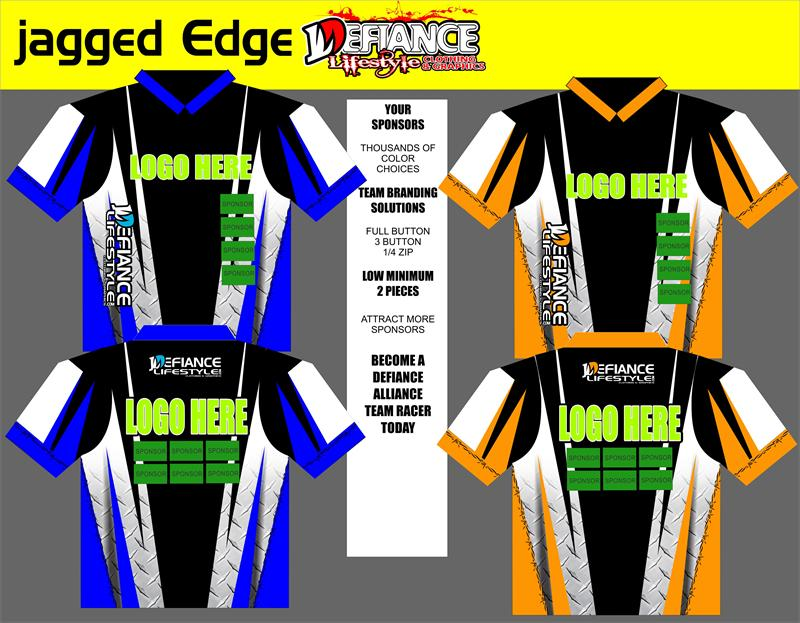 Jagged Polo Semi Custom - Defiance Lifestyle, Race Apparel - Casual to Custom