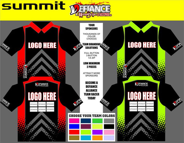 Summit Polo Semi Custom - Defiance Lifestyle, Race Apparel - Casual to Custom