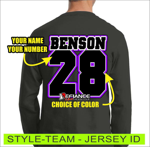 Team Player - Jersey Lettering - Defiance Lifestyle, Race Apparel - Casual to Custom