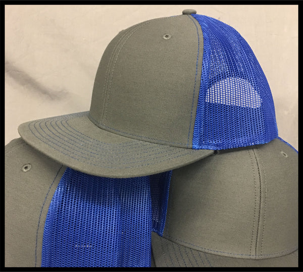 Hat with Racing Plate - Blue - Defiance Lifestyle, Race Apparel - Casual to Custom