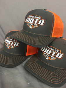 Moto Shield Racing SnapBack Hat - neon orange - Defiance Lifestyle, Race Apparel - Casual to Custom