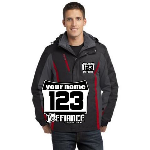 Jackets - Mens Defiance Moto 3-in-1 Jacket(j321) - Defiance Lifestyle, Race Apparel - Casual to Custom