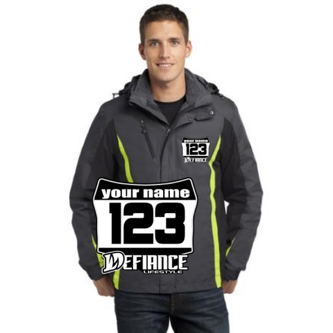 Jackets - Mens Defiance Moto 3-in-1 Jacket(j321)green - Defiance Lifestyle, Race Apparel - Casual to Custom