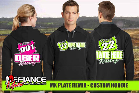 Custom sweatshirt - Plate remix - Defiance Lifestyle, Race Apparel - Casual to Custom