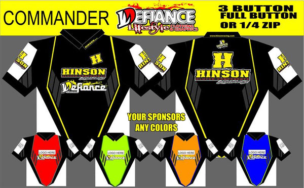 Commander Polo Semi Custom - Defiance Lifestyle, Race Apparel - Casual to Custom