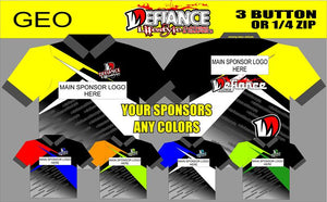 Geo Factor Polo Semi Custom - Defiance Lifestyle, Race Apparel - Casual to Custom