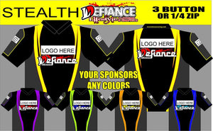 Stealth Polo Semi Custom - Defiance Lifestyle, Race Apparel - Casual to Custom