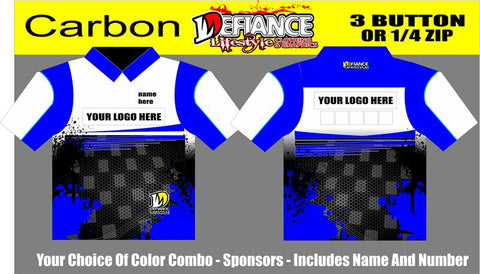 Carbon Polo Semi Custom - Defiance Lifestyle, Race Apparel - Casual to Custom
