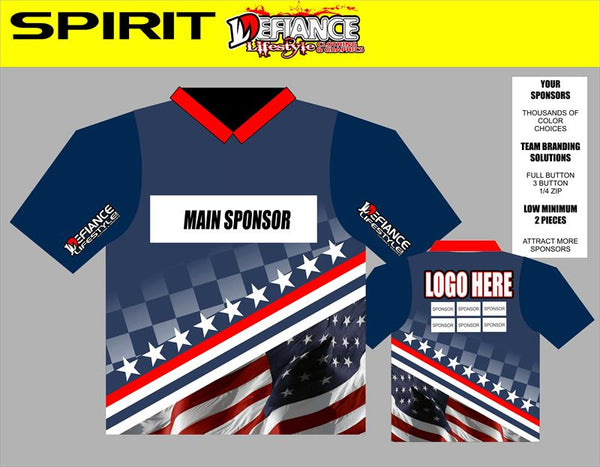 Spirit Polo Semi Custom - Defiance Lifestyle, Race Apparel - Casual to Custom