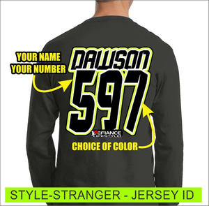 Stranger - Jersey Lettering - Defiance Lifestyle, Race Apparel - Casual to Custom