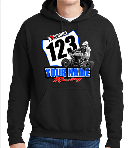 ATV Custom sweatshirt - plate slide - Defiance Lifestyle, Race Apparel - Casual to Custom