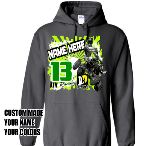 Custom sweatshirt - ATV whip - Defiance Lifestyle, Race Apparel - Casual to Custom