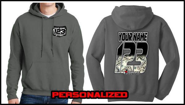 Custom Baller Sweatshirt - Charcoal - Defiance Lifestyle, Race Apparel - Casual to Custom
