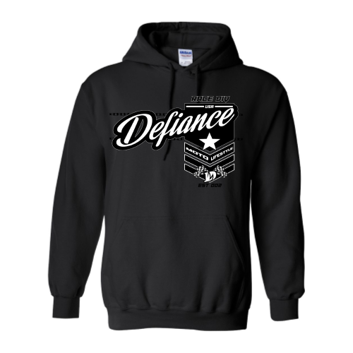 Battle Sweatshirt- black Hoodie - Defiance Lifestyle, Race Apparel - Casual to Custom