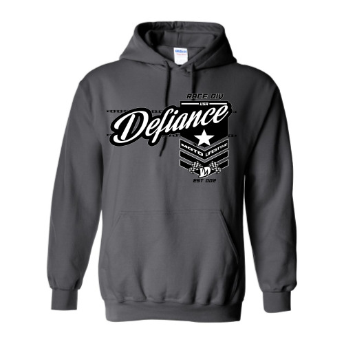 Battle Sweatshirt - Charcoal Hoodie - Defiance Lifestyle, Race Apparel - Casual to Custom