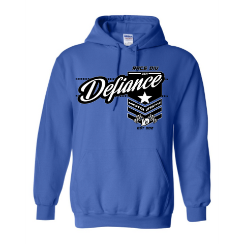 Battle Sweatshirt - Royal Hoodie - Defiance Lifestyle, Race Apparel - Casual to Custom