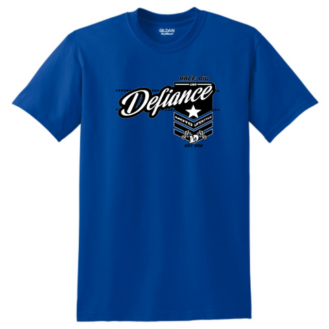 Battle T-Shirt - blue - Defiance Lifestyle, Race Apparel - Casual to Custom