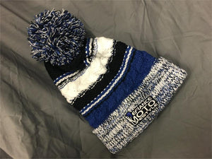 Beenie Hat - blue/white - Defiance Lifestyle, Race Apparel - Casual to Custom