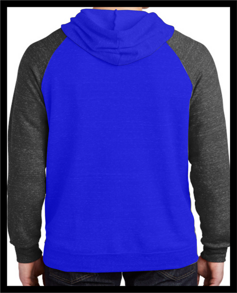 Race Division Moto Sweatshirt - New Shield Blue 2 tone Hoodie - Defiance Lifestyle, Race Apparel - Casual to Custom