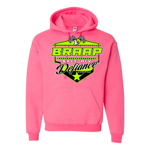 Braap Sweatshirt - Pink Hoodie - flow - Defiance Lifestyle, Race Apparel - Casual to Custom