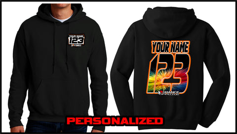 Custom Burst Sweatshirt - BLACK - Defiance Lifestyle, Race Apparel - Casual to Custom