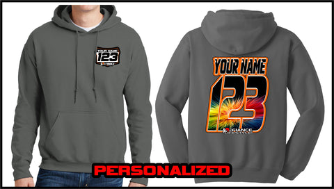 Custom Burst Sweatshirt - Charcoal - Defiance Lifestyle, Race Apparel - Casual to Custom