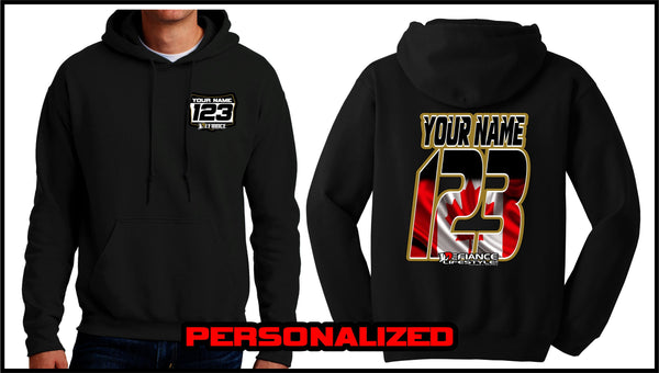Custom Canada Sweatshirt - BLACK - Defiance Lifestyle, Race Apparel - Casual to Custom