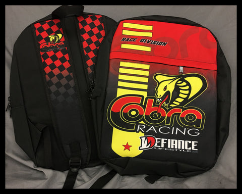 Cobra Moto Back Pack - Race Division - Defiance Lifestyle, Race Apparel - Casual to Custom