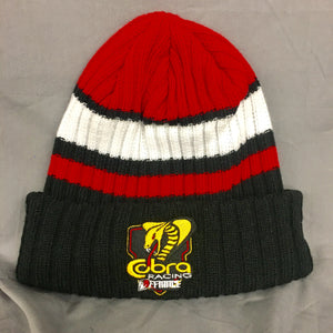 Cobra Moto Striped Beenie - champion shield - Defiance Lifestyle, Race Apparel - Casual to Custom