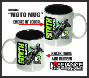 Motocross Bike Race Mugs - Defiance Lifestyle, Race Apparel - Casual to Custom