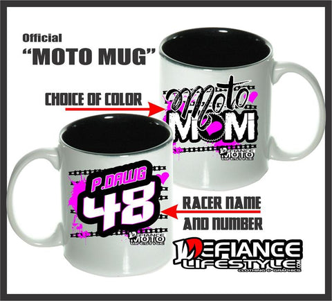 Moto Mom Mugs - Defiance Lifestyle, Race Apparel - Casual to Custom