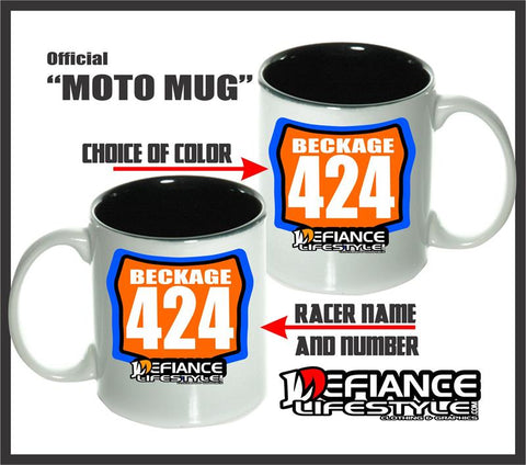 Custom Race Plate Mugs - Defiance Lifestyle, Race Apparel - Casual to Custom