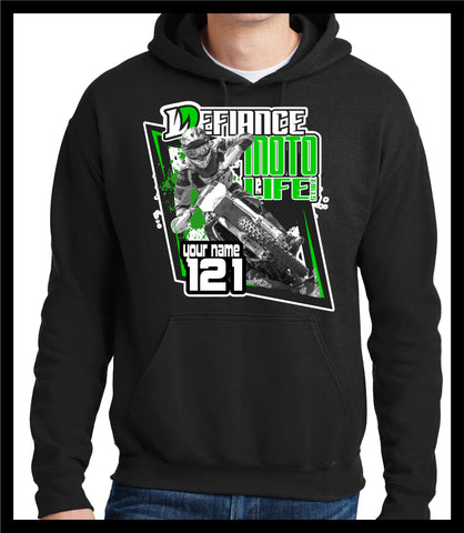 Coming at YA  Race Sweatshirt - BLACK - Defiance Lifestyle, Race Apparel - Casual to Custom