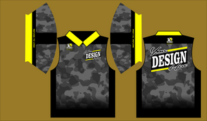 dark camo Polo Semi Custom - Defiance Lifestyle, Race Apparel - Casual to Custom